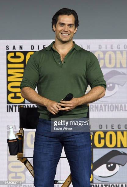 "Henry Cavill attends ""The Witcher"": A Netflix Original Series Panel during 2019 Comic-Con International at San Diego Convention Center on July 19,..."