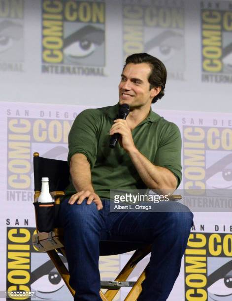 Henry Cavill attends The Witcher A Netflix Original Series Panel during 2019 ComicCon International at San Diego Convention Center on July 19 2019 in...