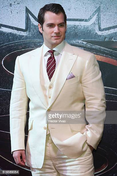 Henry Cavill during the Batman v Superman Premiere at Auditorio Nacional on March 19 2016 in Mexico City Mexico
