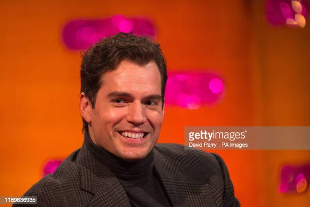 Henry Cavill during the filming for the Graham Norton Show at BBC Studioworks 6 Television Centre Wood Lane London to be aired on BBC One on Friday...