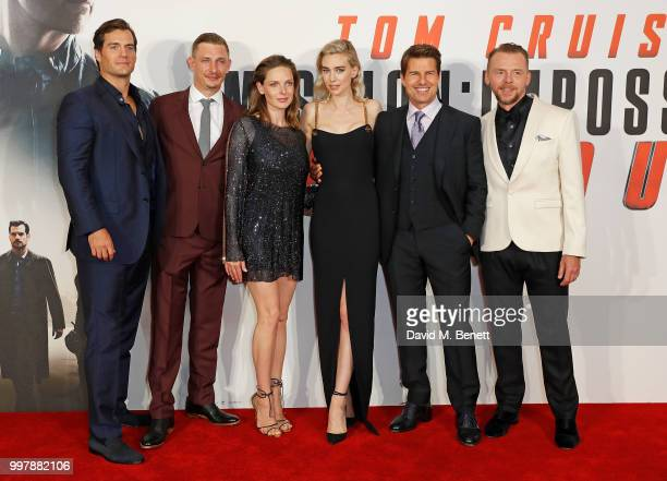 "Henry Cavill, Frederick Schmidt, Rebecca Ferguson, Vanessa Kirby, Tom Cruise and Simon Pegg attend the UK Premiere of ""Mission: Impossible - Fallout""..."