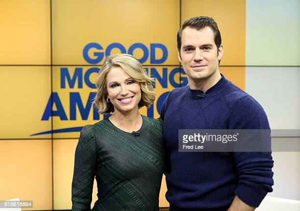 AMERICA Henry Cavill is a guest on 'Good Morning America' 3/11/16 airing on the ABC Television Network AMY