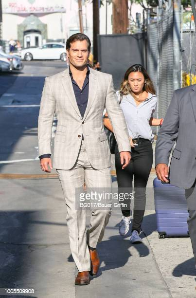 Henry Cavill is seen arriving at the 'Jimmy Kimmel Live' on July 25 2018 in Los Angeles California
