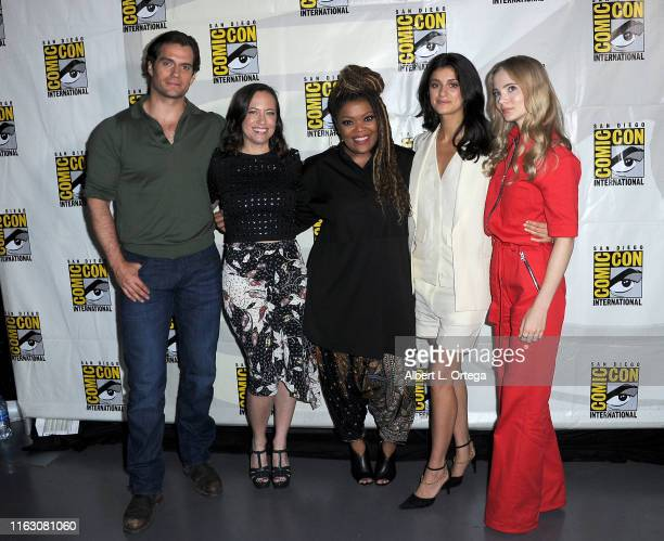 Henry Cavill Jodhi May Yvette Nicole Brown Anya Chalotra and Freya Allan attend The Witcher A Netflix Original Series Panel during 2019 ComicCon...