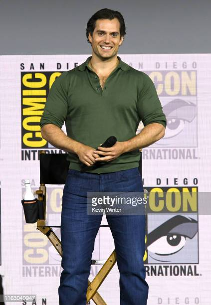 "Henry Cavill speaks at ""The Witcher"": A Netflix Original Series Panel during 2019 Comic-Con International at San Diego Convention Center on July 19,..."