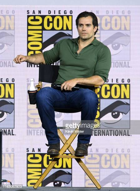 Henry Cavill speaks at The Witcher A Netflix Original Series Panel during 2019 ComicCon International at San Diego Convention Center on July 19 2019...