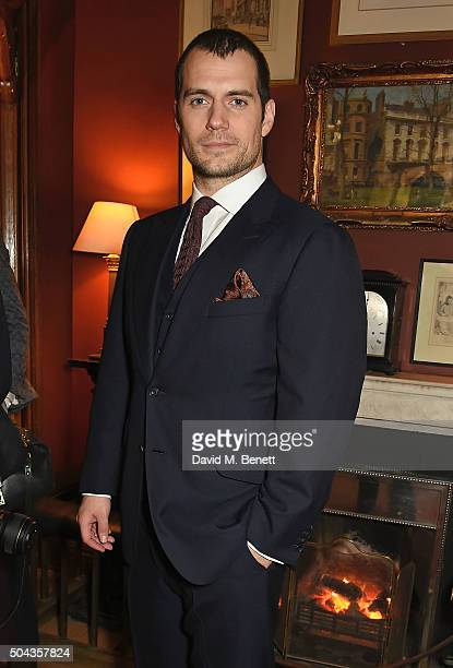 Henry Cavill wearing dunhill attends dunhill Autumn Winter 2016 Collection Presentation LCM on January 10 2016 in London England