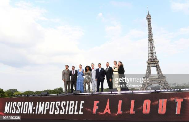 Henry Cavilla guestMichelle MonaghanAngela Bassett Christopher McQuarrieTom CruiseSimon PeggVanessa Kirby and Rebecca Feruson attend the Global...