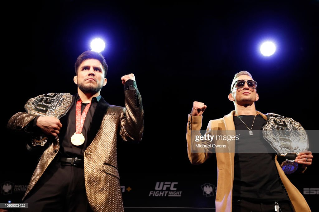 UFC Fight Night Cejudo v Dillashaw: Press Conference : News Photo