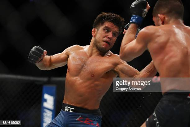 Henry Cejudo battles Sergio Pettis during UFC 218 at Little Ceasars Arena on December 2 2018 in Detroit Michigan