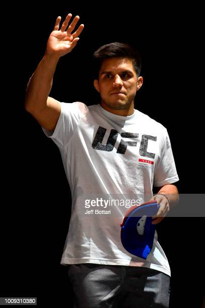 Henry Cejudo holds an open workout for fans and media at The Novo at LA Live on August 1 2018 in Los Angeles California