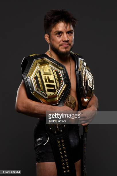 Henry Cejudo poses for a portrait backstage during the UFC 238 event at the United Center on June 8 2019 in Chicago Illinois