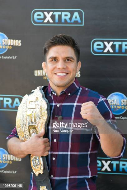 Henry Cejudo visits Extra at Universal Studios Hollywood on August 13 2018 in Universal City California