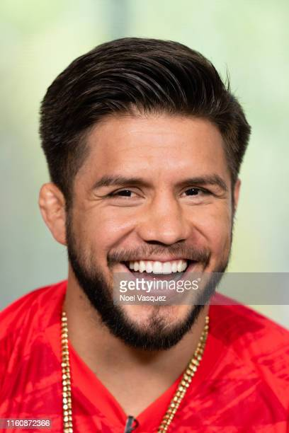 Henry Cejudo visits Extra at Universal Studios Hollywood on July 08 2019 in Universal City California