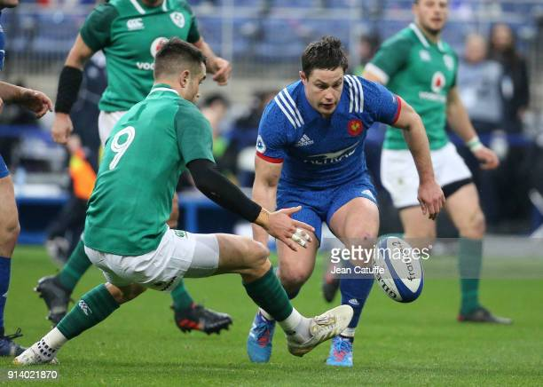 Henry Chavancy of France Conor Murray of Ireland during the NatWest 6 Nations match between France and Ireland at Stade de France on February 3 2018...
