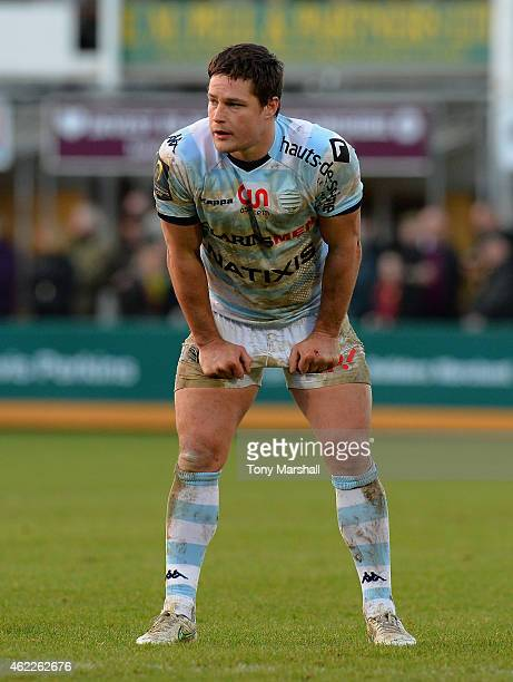 Henry Chavancy of Racing Metro 92 during the European Rugby Champions Cup match between Northampton Saints and Racing Metro 92 at Franklin's Gardens...