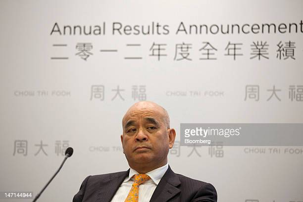Henry Cheng chairman of Chow Tai Fook Jewellery Group Ltd pauses during a news conference in Hong Kong China on Tuesday June 26 2012 Chow Tai Fook a...