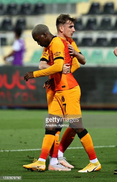 Henry Chukwuemeka Onyekuru of Galatasaray celebrates after scoring a goal during the Turkish Super Lig week 41 match between Yukatel Denizlispor and...