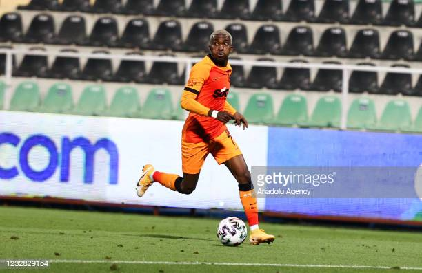 Henry Chukwuemeka Onyekuru of Galatasaray in action during the Turkish Super Lig week 41 match between Yukatel Denizlispor and Galatasaray at the...
