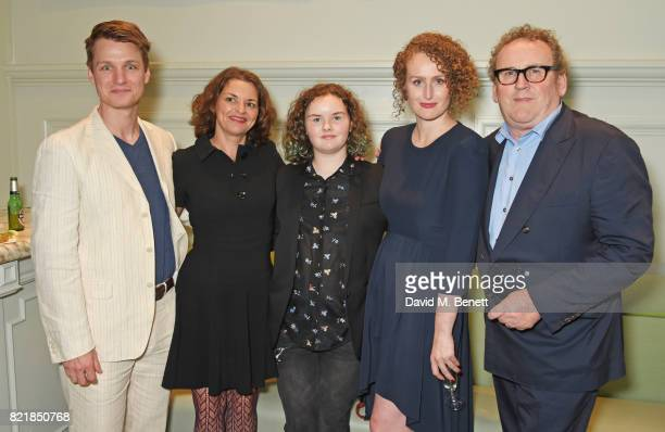 Henry Clarke Ines Glorian Ada Meaney Brenda Meaney and Colm Meaney attend the press night after party for Cat On A Hot Tin Roof at The National Cafe...