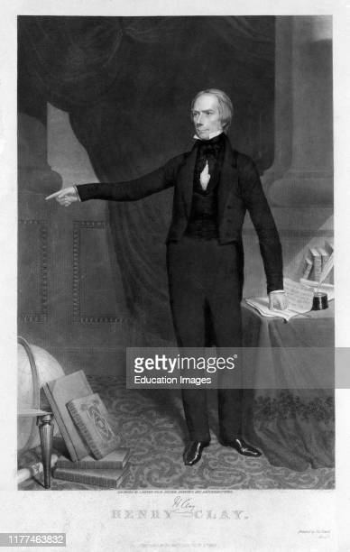 Henry Clay American Statesman who Represented Kentucky in both the US Senate and House of Representatives by J Sartain from Original Drawings and...