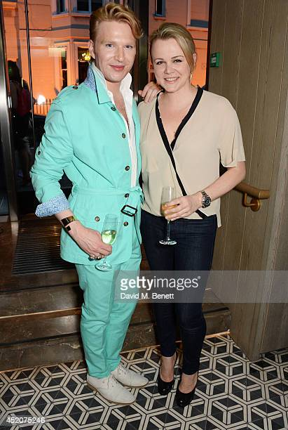 Henry Conway and chef Sophie Michell attend Henry Conway's birthday at Pont St Restaurant in the Belgraves Hotel on July 12 2014 in London England