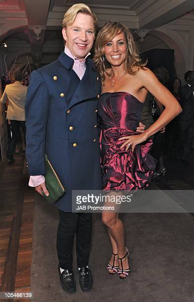 Henry Conway and Jasmine Harman attend The Samsung Pink Ribbon Celebration which raises awareness of and funds for breast cancer at The Royal...