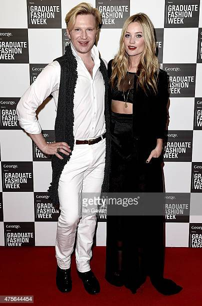 Henry Conway and Laura Whitmore attend the Graduate Fashion Week George Gold Award show at The Old Truman Brewery on June 2 2015 in London England