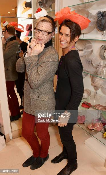 Henry Conway and Ollie Locke attend the Shop with the Stars a public shopping evening to celebrate The Olivier Awards with MasterCard to raise funds...