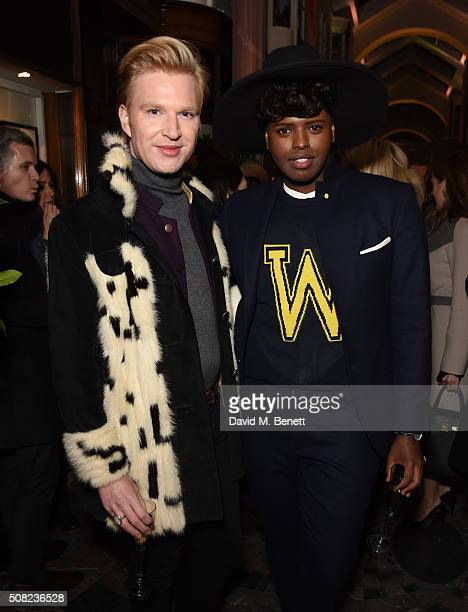 Henry Conway and Prince Cassius attend an evening of shopping and cocktails with Manolo Blahnik and British Vogue at the new Manolo Blahnik...
