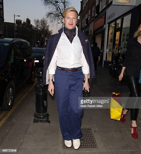 Henry Conway attending The Ivy Chelsea Garden Launch Party on April 14 2015 in London England