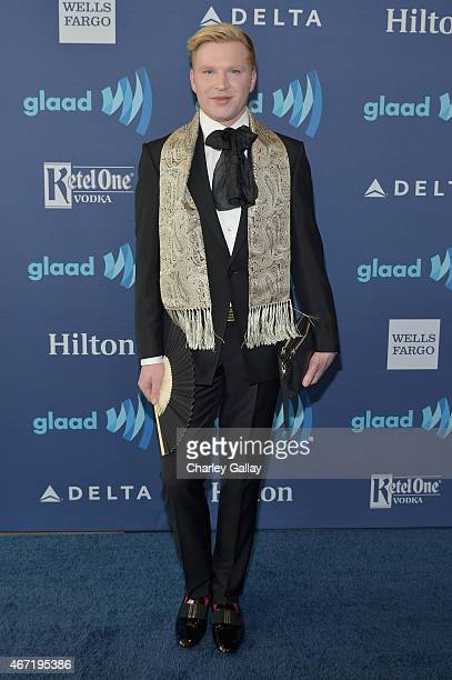 Henry Conway attends 26th Annual GLAAD Media Awards at The Beverly Hilton Hotel on March 21 2015 in Beverly Hills California