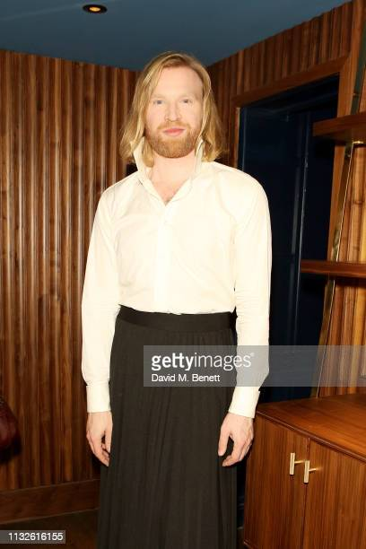 Henry Conway attends a party hosted by Gina Martin and Ryan Whelan to celebrate the Royal ascent into law of the Voyeurism Bill making upskirting...