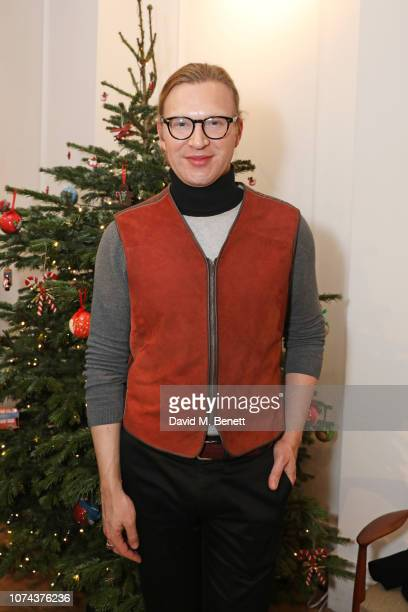 Henry Conway attends a private view of 'Art Design' hosted by Magdalena Gabriel and Patrick Grant at Norton Sons on December 18 2018 in London England