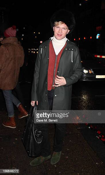 Henry Conway attends Stutterheim Raincoats: Pop-Up Shop - launch party at 30a Redchurch Street on November 22, 2012 in London. England.