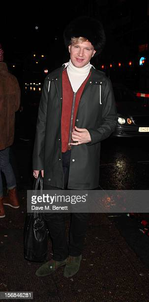 Henry Conway attends Stutterheim Raincoats PopUp Shop launch party at 30a Redchurch Street on November 22 2012 in London England