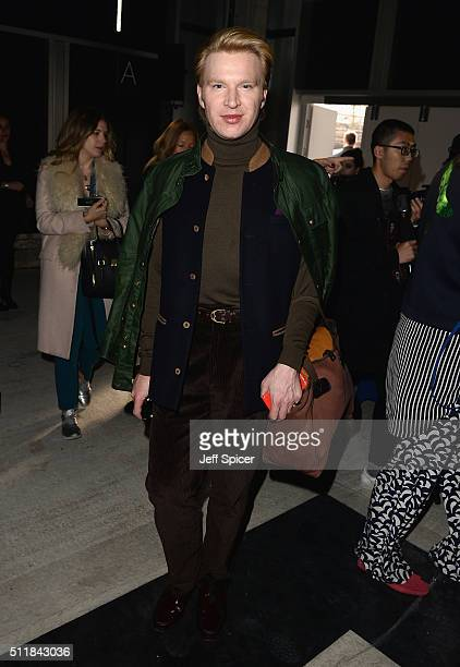 Henry Conway attends the Amanda Wakeley show during London Fashion Week Autumn/Winter 2016/17 at 2 Pancras Square on February 23 2016 in London...