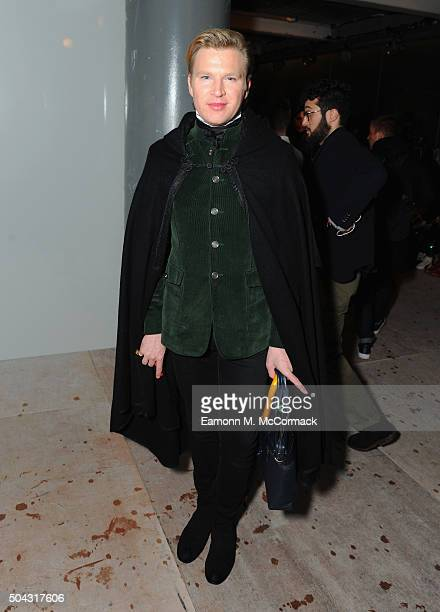 Henry Conway attends the CaselyHayford show during The London Collections Men AW16 at 108 The Strand on January 9 2016 in London England