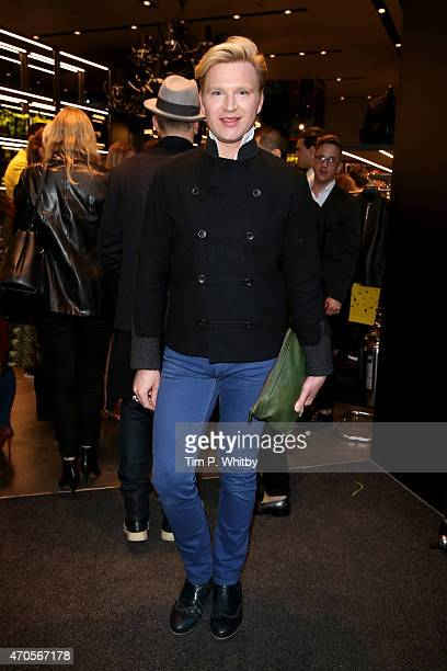 Henry Conway attends the DSQUARED2 celebration of London Flagship Opening on April 21 2015 in London England