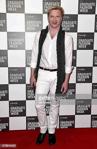 Henry Conway attends the Graduate Fashion Week George Gold Award show at The Old Truman Brewery on June 2 2015 in London England