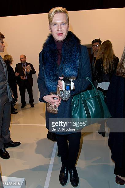 Henry Conway attends the opening event at the London Collections Men AW15 at The Hospital Club on January 9 2015 in London England