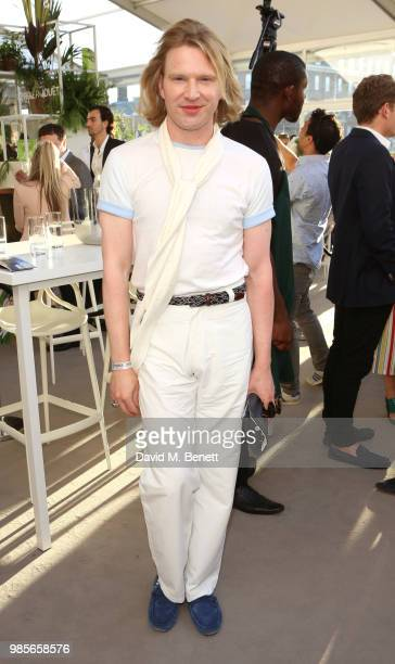 Henry Conway attends the Perrier Jouet VIP reception on the Perrier Jouet Champagne Terrace at Masterpiece London at the Royal Hospital Chels