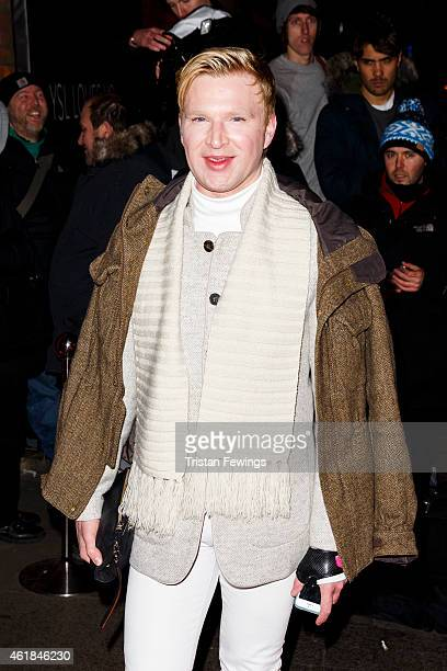 Henry Conway attends the YSL Beaute YSL Loves Your Lips party at The Boiler HouseThe Old Truman Brewery on January 20 2015 in London England