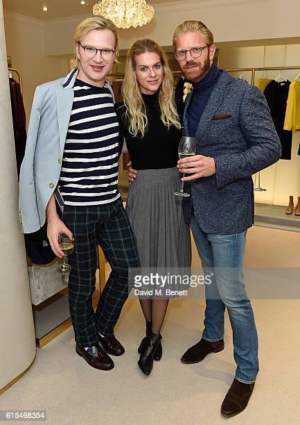 Henry Conway Barbora Bediova and Alistair Guy attend the launch of the unique collaboration between designers John Monique Davidson and artist Tanya...