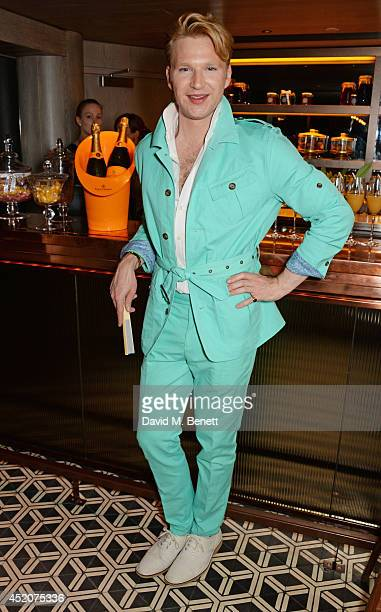Henry Conway celebrates his birthday at Pont St Restaurant in the Belgraves Hotel on July 12 2014 in London England