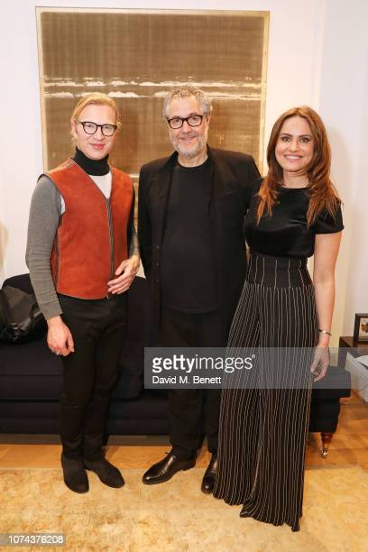 Henry Conway Pierre Bonnefille and Magdalena Gabriel attend a private view of 'Art Design' hosted by Magdalena Gabriel and Patrick Grant at Norton...