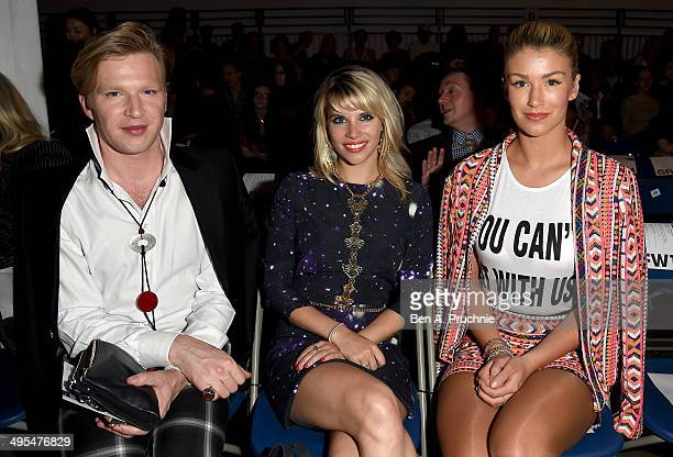 Henry Conway Pips Taylor and Amy Willerton attends the Graduate Fashion Week awards show at The Old Truman Brewery on June 3 2014 in London England