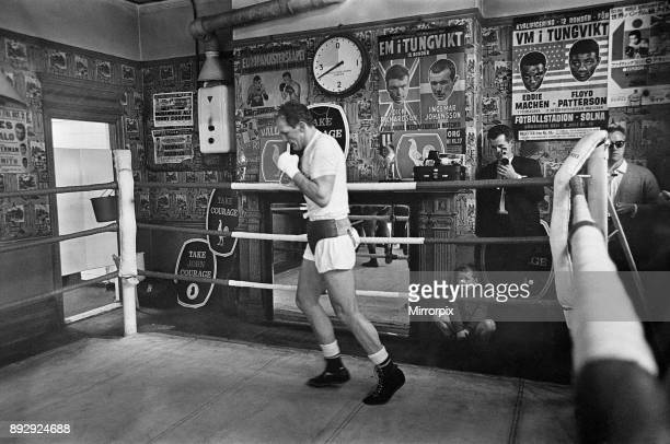 Henry Cooper in the gym training ahead of his second fight with Muhammad Ali Circa May 1971