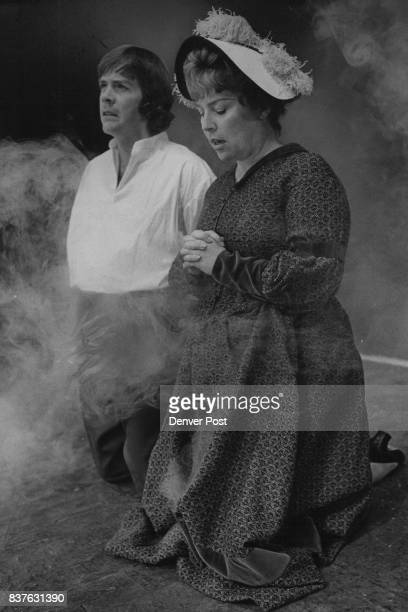 Henry David Thoreau joins his mother in prayer in the Bonfils Theatre production of 'The Night Thoreau Spent in Jail' which opens on Thursday Credit...