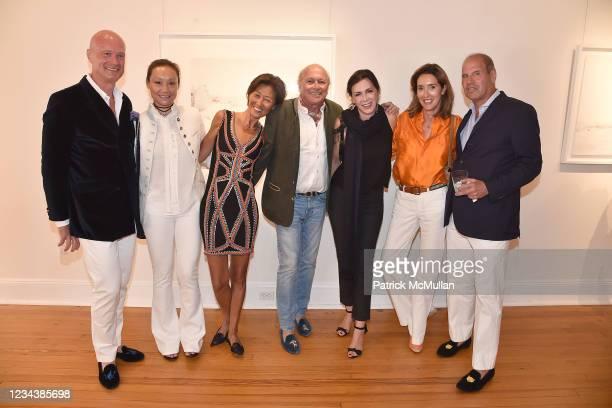 Henry de Monclin, Gigi Tang, Xin Fu, Christophe von Hohenberg, Claudia Marcucetti Pascoli, Carolina von Humboldt and Philippe Bigar attend the...